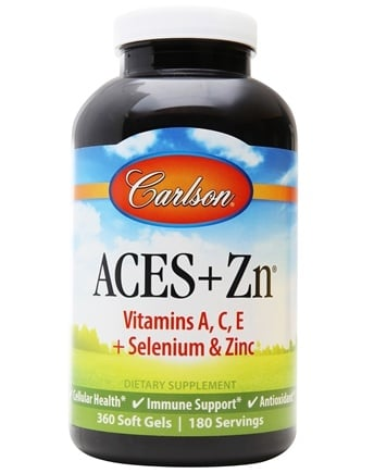 Carlson Labs - ACES + Zn Vitamins A, C, E Plus Selenium and Zinc - 360 Softgels