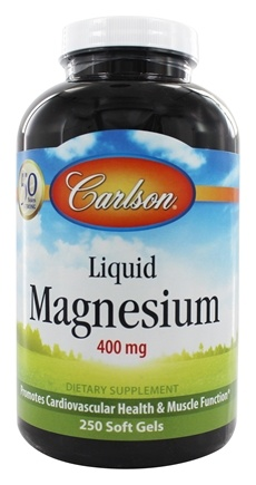 Carlson Labs - Liquid Magnesium 400 mg. - 250 Softgels