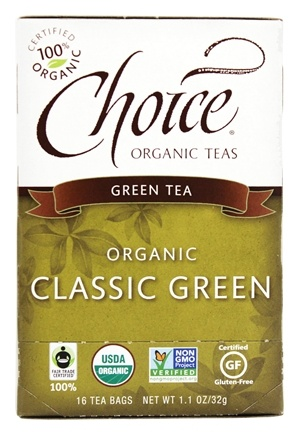 Choice Organic Teas - Classic Blend Green Tea - 16 Tea Bags