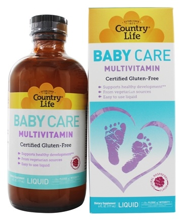 Country Life - Maxi Baby Care Liquid multivitamin Natural Raspberry Flavor - 6 oz.