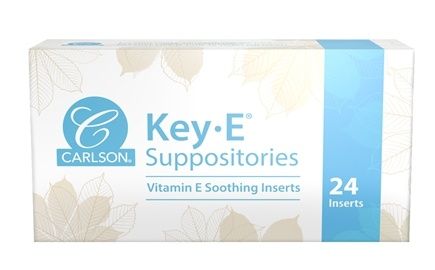 Carlson Labs - Key-E Natural Vitamin E Suppositories - 24 Suppositories
