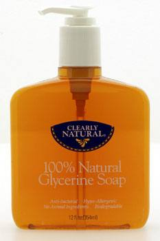 DROPPED: Clearly Natural - 100% Natural Glycerine Soap - 12 oz.