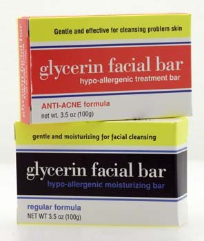 DROPPED: Clearly Natural - Glycerine Facial Bar Anti-Acne Formula - 3.5 oz.