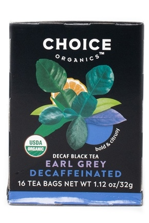 Choice Organic Teas - Decaffeinated Earl Grey Tea - 16 Tea Bags