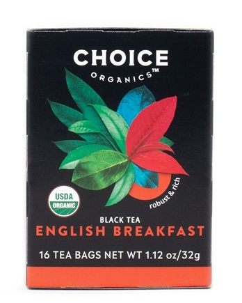 DROPPED: Choice Organic Teas - English Breakfast Tea - 16 Tea Bags