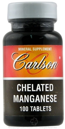 DROPPED: Carlson Labs - Chelated Manganese 20 mg. - 100 Tablets CLEARANCE PRICED