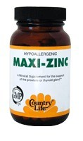 DROPPED: Country Life - Maxi-Zinc 100 mg. - 60 Capsules