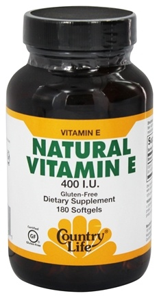 DROPPED: Country Life - Natural Vitamin E 400 IU - 180 Softgels