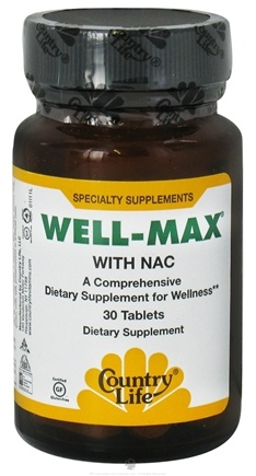 DROPPED: Country Life - Well-Max With Nac - 30 Tablets Formerly Biochem - CLEARANCE PRICED