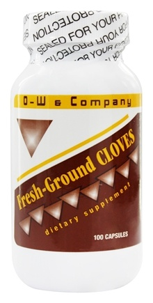 O-W & Company - Cloves Fresh Ground - 100 Capsules