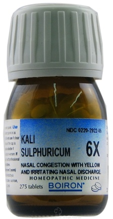 DROPPED: Boiron - Kali Sulphuricum 6 X - 275 Tablets CLEARANCE PRICED