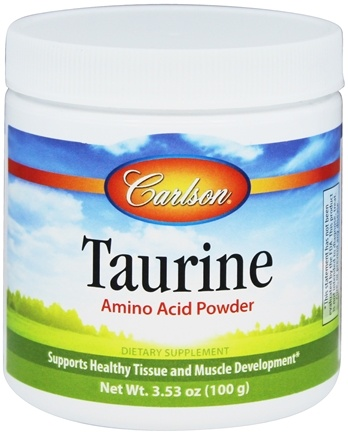 DROPPED: Carlson Labs - Taurine Amino Acid Powder - 100 Grams CLEARANCE PRICED