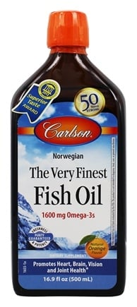 Carlson Labs - The Very Finest Fish Oil Orange Flavor - 16.9 oz.