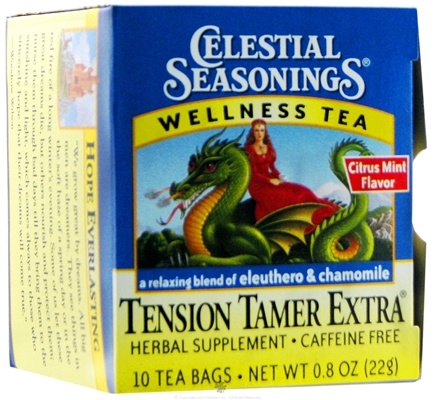 DROPPED: Celestial Seasonings - Tension Tamer Herb Tea Caffeine Free - 10 Tea Bags