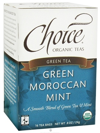 DROPPED: Choice Organic Teas - Moroccan Mint Green Tea - 16 Tea Bags