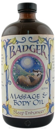 DROPPED: Badger - Massage & Body Oil Sleep Enhancer - 32 oz.