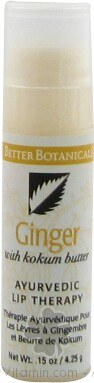 DROPPED: Better Botanicals - Ayurvedic Lip Thera Ginger (Balancing) - 0.15 Oz. CLEARANCE PRICED