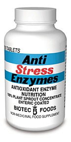 DROPPED: Biotec Foods - Anti-Stress Enzymes - 200 Tablets