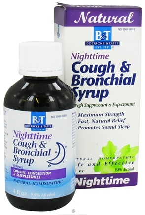 DROPPED: Boericke & Tafel - Nighttime Cough & Bronchial Syrup - 4 oz. CLEARANCE PRICED