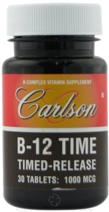 DROPPED: Carlson Labs - B12 Time 1000 mcg. - 30 Tablets