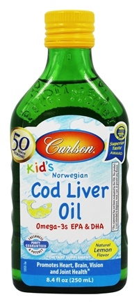 Carlson Labs - Kid's Norwegian Cod Liver Oil Lemon Flavor - 8.4 oz.