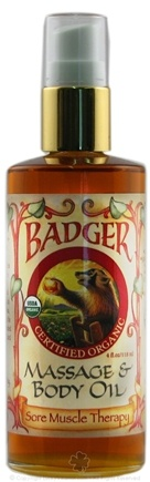 DROPPED: Badger - Massage & Body Oil Sore Muscle Therapy - 4 oz. CLEARANCE PRICED