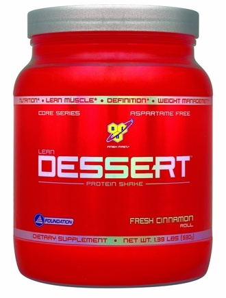 DROPPED: BSN - Lean Dessert Protein Shake Fresh Cinnamon Roll - 1.39 lbs. CLEARANCE PRICED