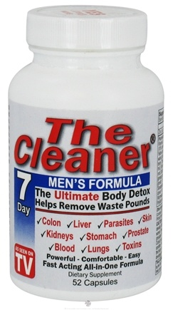 DROPPED: Century Systems - The Cleaner Men's 7-Day Formula - 52 Capsules CLEARANCE PRICED