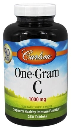 DROPPED: Carlson Labs - One-Gram C Vitamin C 1000 mg. - 250 Tablets