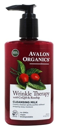 Avalon Organics - Wrinkle Therapy Cleansing Milk with CoQ10 & Rosehip - 8.5 oz.
