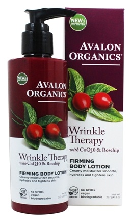 Avalon Organics - Wrinkle Therapy Firming Body Lotion - 8 oz. (Formerly Cellular Renewing Wrinkle Defense Skin Care)