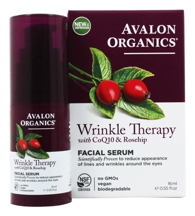 Avalon Organics - CoQ10 & Rosehip Wrinkle Therapy - 0.55 oz. (Formerly Cellular Renewing Wrinkle Defense Enzyme Skin Care)
