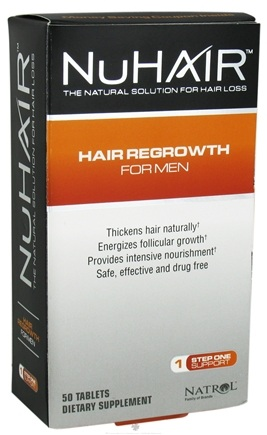 DROPPED: Nu Hair - Hair Regrowth For Men - 50 Tablets Formerly Shen Min Hair For Men - CLEARANCE PRICED