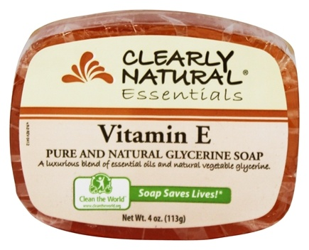 Clearly Natural - Glycerine Soap Bar Vitamin E - 4 oz.