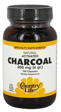 Country Life - Natural Activated Charcoal 260 mg. - 100 Capsules
