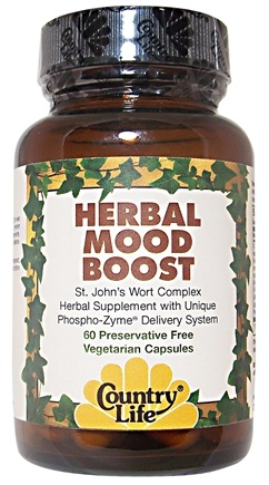 DROPPED: Country Life - Herbal Mood Boost Caps - 60 Capsules CLEARANCE PRICED