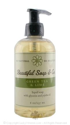 DROPPED: Beautiful Soap & Co. - Liquid Soap Green Tea & Lime - 8 Oz.
