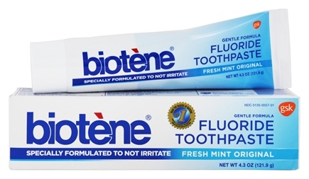 DROPPED: Biotene Dental - Gentle Formula Fluoride Toothpaste Fresh Mint Original - 4.3 oz.