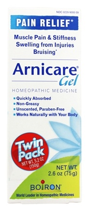 DROPPED: Boiron - Arnicare Arnica Gel Pain Relief 2.6 oz. (75g) Twin Pack - 5.2 oz.