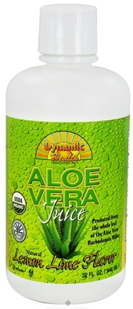 DROPPED: Dynamic Health - Aloe Vera Juice Lemon Lime - 32 oz. CLEARANCE PRICED