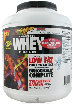 DROPPED: Cytosport - Complete Whey Protein Low Fat Strawberry Banana - 5 lbs. CLEARANCE PRICED