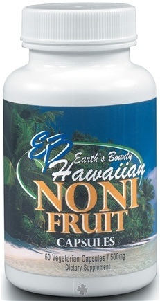 DROPPED: Earth's Bounty - Hawaiian Noni Juice Capsules - 60 Capsules
