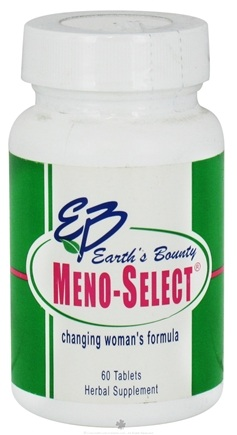 DROPPED: Earth's Bounty - Meno-Select Woman's Transitional Formula - 60 Tablets