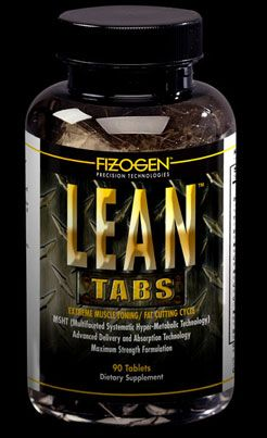 DROPPED: Fizogen - Lean Tabs - Extreme Muscle Toning / Fat Cutting Cycle - 90 Tablets