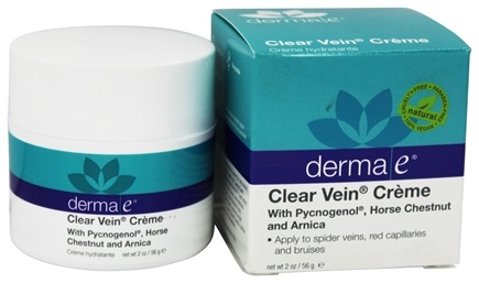 DROPPED: Derma-E - Clear Vein Creme Spider Vein & Bruise Solution - 2 oz.