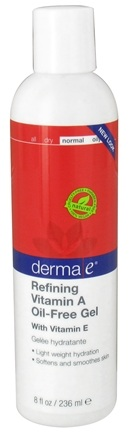 DROPPED: Derma-E - Refining Vitamin A Oil-Free Gel With Vitamin E - 8 oz. (formerly Vitamin A Wrinkle Treatment)