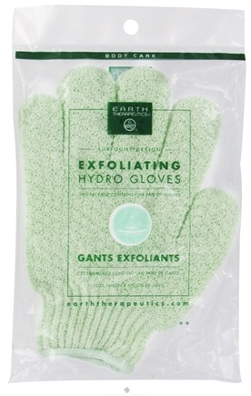 DROPPED: Earth Therapeutics - Exfoliating Hydro Gloves Jade - 1 Pair CLEARANCE PRICED