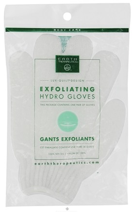 DROPPED: Earth Therapeutics - Exfoliating Hydro Gloves White - 1 Pair
