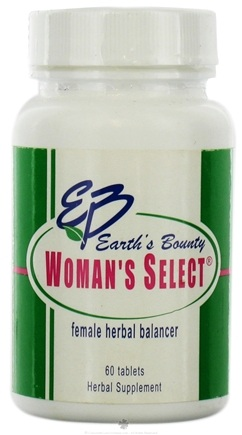DROPPED: Earth's Bounty - Woman's Select Herbal Female Formula - 60 Tablets