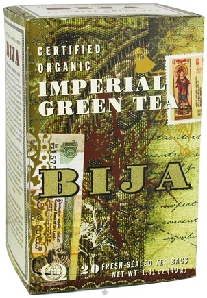 DROPPED: Flora - Bija Imperial Green Tea Certified Organic - 20 Tea Bags CLEARANCE PRICED